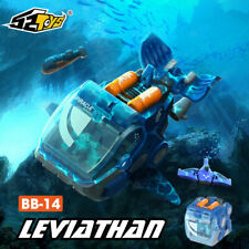 52Toys BeastBox Bb-14 Robotic Whale Leviathan Transforming Action Figure In Hand