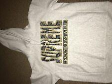 Supreme FW17 Paisley FUK EM ALL Hoodie Sweatshirt Small Ash White
