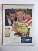 Vintage 1958 Whitman's Chocolates Food Art Print Collectible Ad 10.5 x 13.5