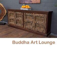 Kolonialschrank Indien Sideboard Massivholz 218x91x45 Buffet Anrichte Highboard