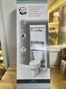 Zenna Home Bathroom Space-Saver Over The Toilet Bath Storage Shelf White