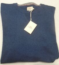 Faherty Cotton & Cashmere Blend Sconset Crewneck Sweater NWT Large $128 Blue
