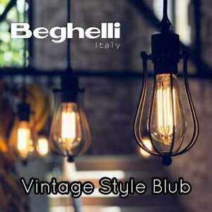 Beghelli Vintage Filament LED Edison Bulb T32 Decorative Industrial Light A++