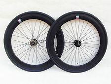 NOLOGO BLACK 60MM Single Speed wheelsets Fixed Fixie 700c flip-flop hub wheelset