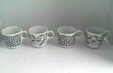IKEA SET OF 4 BLACK & WHITE MUGS CUPS 15199