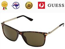 GUESS Men's GF0174 52E Havana/Gold Frame Brown Lenses Sunglasses