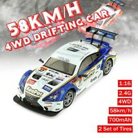 2.4G High Speed 1:16 58km/h RC Drift Racing Car 4WD GTR Remote Control   Gift