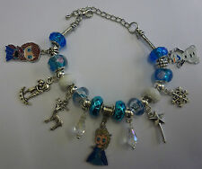FROZEN Handmade Stylish Enamel Charms With Murano Charm Beads Bracelet Gift