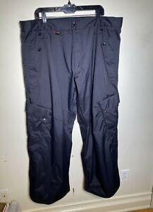 RARE Vintage Nike 6.0 Budmo Cargo Snowboard Pants Black Men's Size XXL EUC
