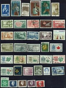 CANADA...COLLECTION  37 STAMPS...MIXED LOT.
