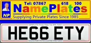 HE66 ETY, HEGGETY, Surname, Cherished Number, Private Plate, Reg Number, Name