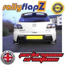 Rally Mudflaps MAZDA 3 MPS 07-09 Mk1 Mud Flaps Kit Black Logo White - Kaylan PU