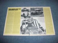 1973 Mint 400 Desert Off Road Race Highlights Article Parnelli Jones Oly Bronco