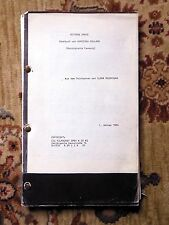 1984 Screenplay AGNIESZKA HOLLAND German Film BITTERE ERNTE / BITTER HARVEST