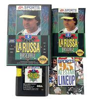 Tony La Russa Baseball Sega Genesis Game Complete with Manual 1993