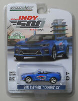 Blue 2018 Chevy Camaro SS Convertible INDY 500 GREENLIGHT DIECAST 1:64 CAR