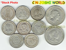 Scarce 10 Different Copper-Nickel 5 Rupees Commemorative Five Rupees Coin Lot