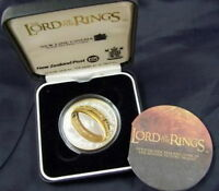 New Zealand 2003 Lord of the Rings Dollar Gold Plated Silver Coin,Proof