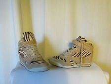 Wedge Sneakers Ash Model Jazz Leather Camel and Hair of Foal Streaked 39