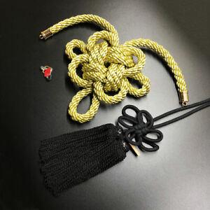 1Set JDM New Modle Junction Produce Gold Kintsuna Black Fusa Kiku Knot Ornaments
