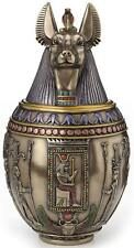 Egyptian God Anubis Dog Memorial Urn Canopic Jar - Honor Your Beloved Pet