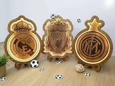 New Wood Carving Lamp With The Logo Of Your Favorite Team Appr. sizes: 35cm/30cm