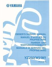 Yamaha service workshop manual 2007 YZ250 (W) W1