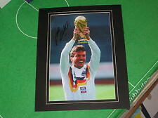 Lothar Matthaus Signed West Germany Italia 90 World Cup Winners Photograph
