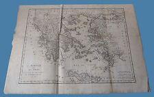 Grece et ses Isles Carte geographiques Anacarsi ANACHARSIS Frere du Roi 1788