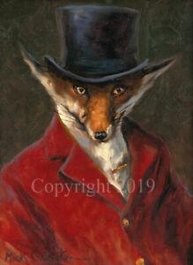 Mick Cawston 'The Master'. funny widlife Fox, fine art print