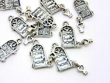 10 Pcs - Tibetan Silver HOME SWEET HOME Charm 18mm Jewellery Fairy Door  Z79