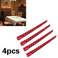 4Pcs Romantic Twisted Candle Smokeless Candlelight Dinner Spiral Candles #bz3