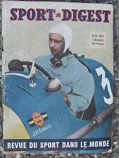 Sport Digest n°18 (mai 1950) Fangio - les nouveaux du cyclisme-Couvreur-Theys
