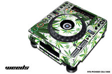 Skin Decal Sticker Wrap for Pioneer CDJ 1000 Turntable DJ Mixer Pro Audio WEED W