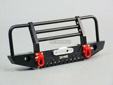 For Traxxas TRX-4 DEFENDER FRONT METAL Bumper GUARD  Aluminum BLACK + LED