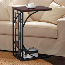 Sofa Tray Table Corner Side Shelf Coffee Storage Laptop Trolley Overbed Desk