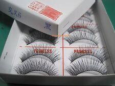 1 Box -New Original PRINCESS LEE Handmade False Fake Eyelash-X6 Black (10 Pairs)