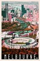 Iconic Melbourne City MCG Scenic Travel Print Limited Ed. of 250 Signed Artwork