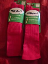 4 Pair Mens Med Plus Over Calf Mild Compression Socks Comfort Top & Smooth Toe