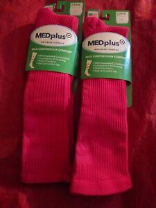4 Pair Mens Med Plus Over Calf Mild Compression Socks Comfort Top & Smooth Toe