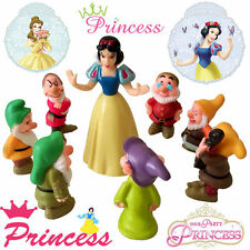 Snow White & 7 The Dwarfs Action Figures Display Figurines Set Cake Topper Toy