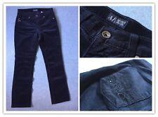 edel Armani Jeans Cord Hose Damen dunkel blau Gr. 27 (34/36) XS/S wie NEU!