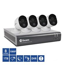 Swann 8 Channel SWDVK-845804V-US Outdoor Bullet Camera 1TB DVR with 4 x 1080p HD