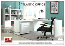 Atlantic Contemporary 4 pcs Home Office Suite, High Gloss with Soft Corner