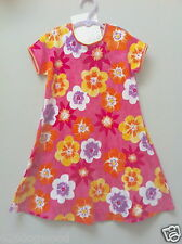 NWT U.S.A Baby Lulu 6 6X Amaryllis Orange Pink Purple Floral Cotton Knit Dress