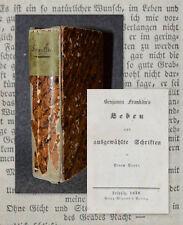 1838 Benjamin Franklin's Leben und ausgewählte Schriften Franklin