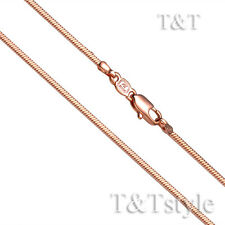T&T 1.0mm 9K Rose Gold Filled Square Snake Chain Necklace (CF115SZ)