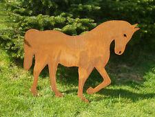 Edelrost Pferd, Gartendekoration, Eisen, Metall, Tier