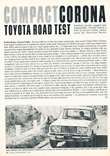 1965 Toyota Corona Original Road Test Article
