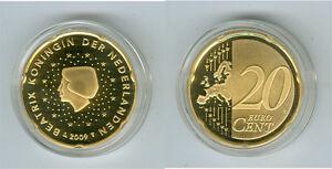 Pays-Bas 20 Cent Pp / Proof (Choisissez Entre Les Millésimes : 1999-2019)